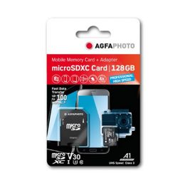 AGFA Photo microSDXC Card 128GB UHS-3 V30 High Speed