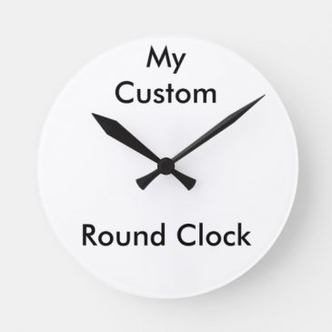 Personalised Round Wall Clock