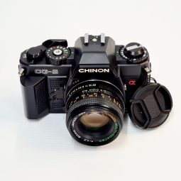 Chinon CG-5 + Chinon 50mm f/1.9 with Leather Case
