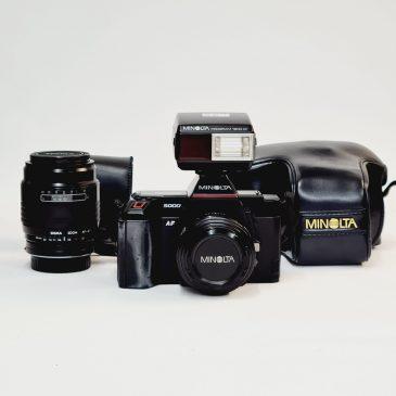 Minolta AF5000 + Sigma 60-200mm + Flash
