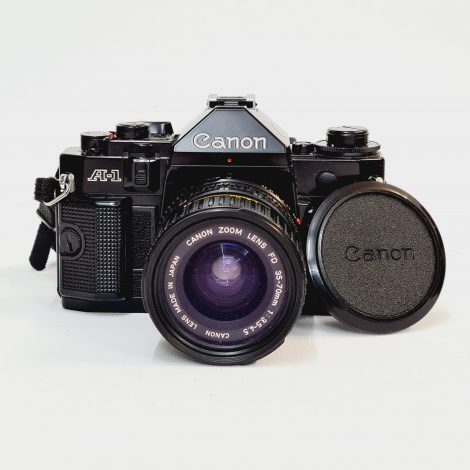 Canon A-1 + Canon FD 35-70mm with Case